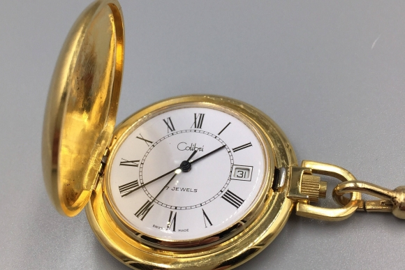 Gent's Colibri Wind Up Date Set Pocket Watch with Watch Chain