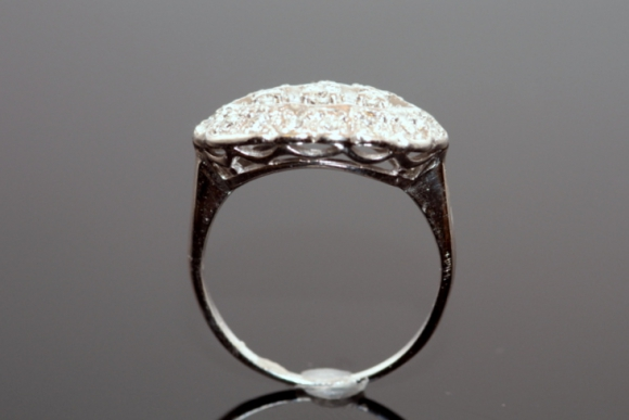 1950s 14k princess ring