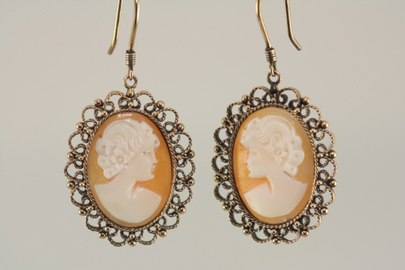 Beautiful Cameo Earrings