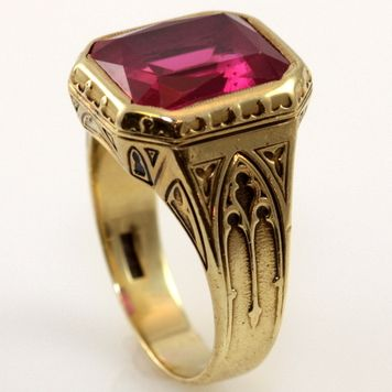 Antique Larter Amp Sons Mens Ruby Ring