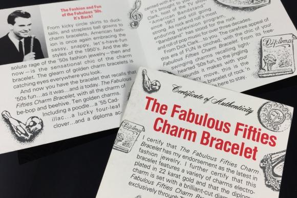 Franklin Mint Fabulous Fifties Charm Bracelet