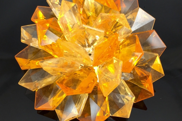 Mod Orange Lucite Flower Brooch