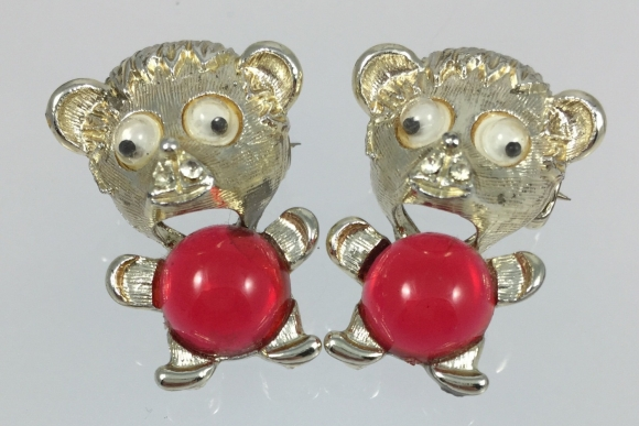 Jelly Belly Googly Eyes Teddy Bear Scatter Pins