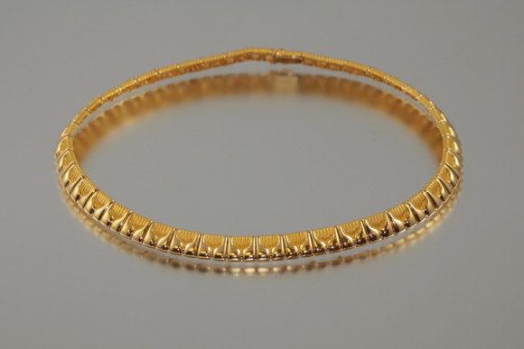 18K Gold Necklace Made in France