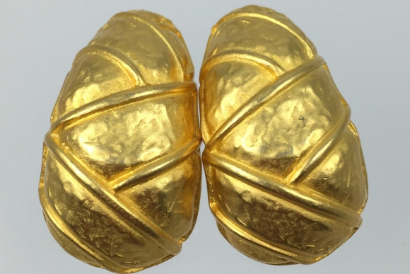 Donald Stannard Large Gold Earrings - Vintage 80s