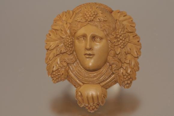 Lava Cameo of Bacchus