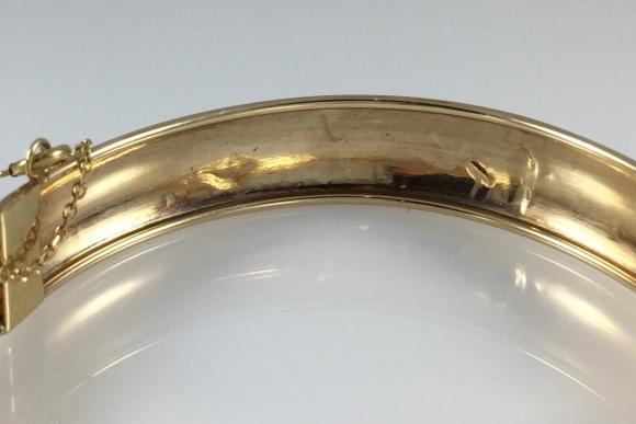 10k Gold Bangle Bracelet Vintage Flexible Gold Bangle