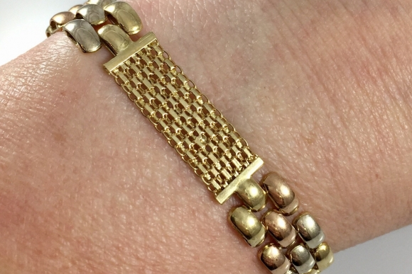 14K Gold Tri Color Bracelet