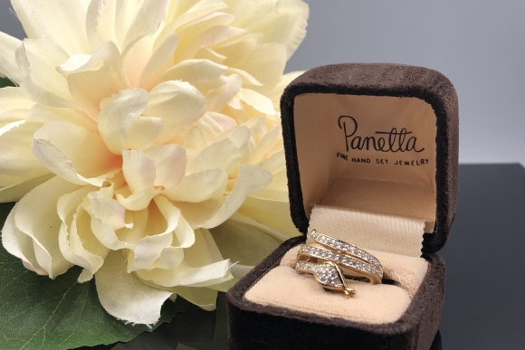 Panetta Crystal Snake Ring in Original Box with Care Card