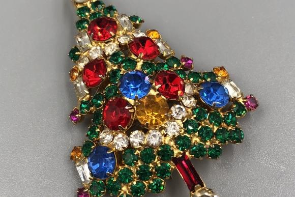 Joseph Warner Christmas Tree Pin