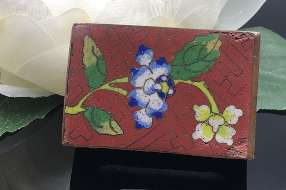 Chinese Export Cloisonne Match Box Cover