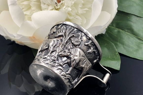 Sterling Repousse Greek Vaphio Small Cup Game of Thrones