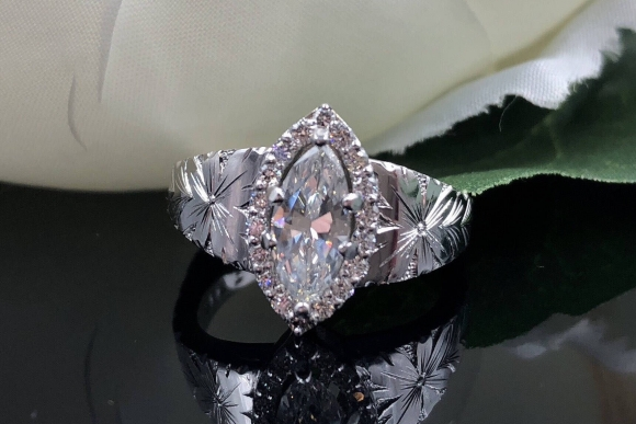 Marquise Diamond 14K White Gold Engagement Ring