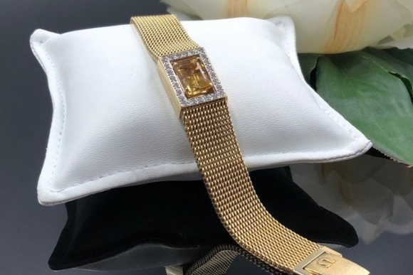 14K Citrine Diamond Bracelet, Omega Watch Conversion