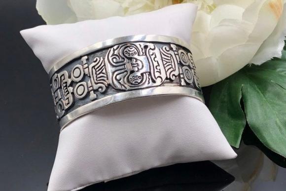 Los Ballesteros Sterling Silver Cuff Bracelet