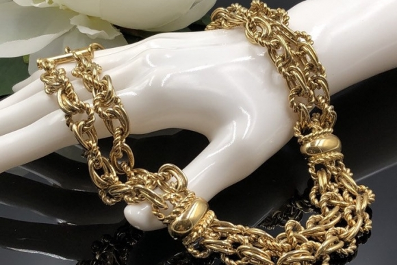 Givenchy Gold Link Chain Necklace
