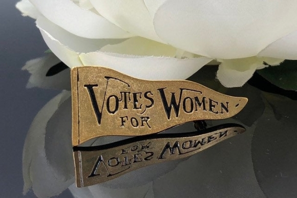 Votes For Women Suffragette Pin, Museum Reproductions Suffragette Pennant
