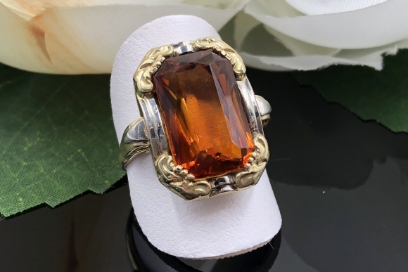 Antique 14K Gold Citrine Ring