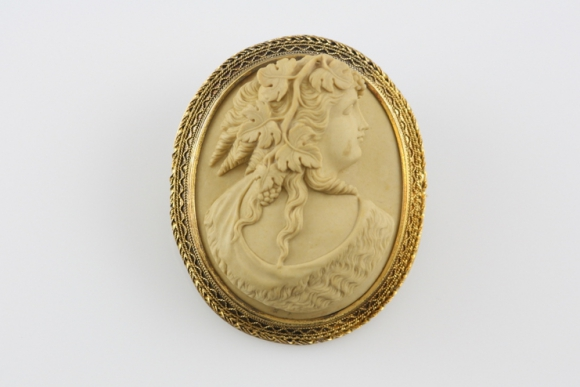 Antique Bacchus Lava Cameo