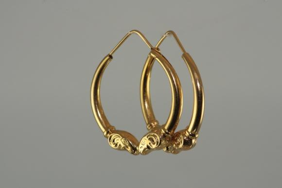 14K Ram Hoop Earrings