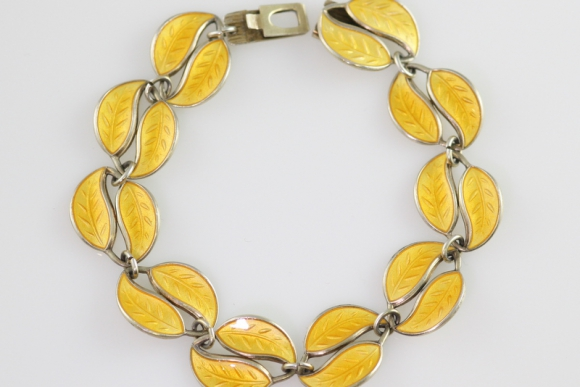 David Andersen Enamel Leaf Bracelet