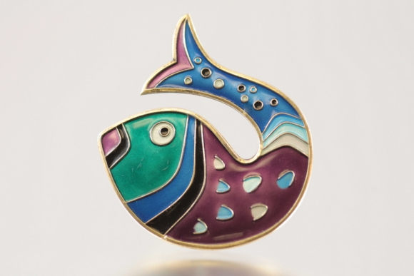 David Andersen Enamel Fish Pin