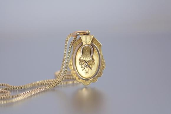 Antique Victorian Locket & Chain