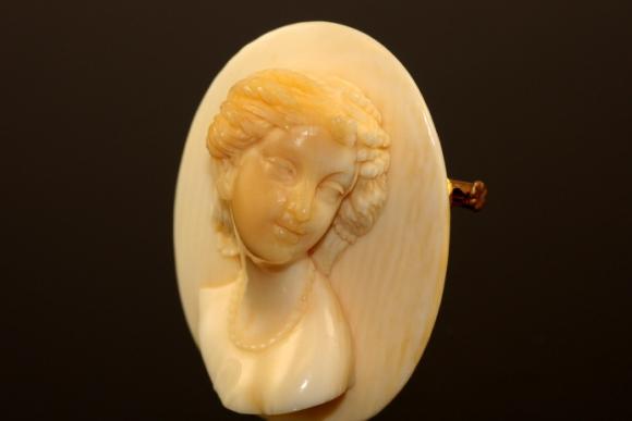 Rare Antique French Ivory Cameo
