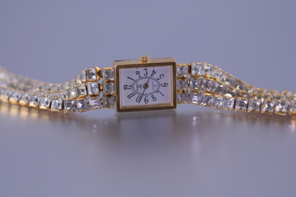 Kenneth Jay Lane Quartz Rhinestone Watch