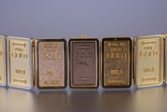 Ladies Gold Ingot Watch