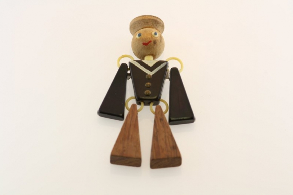 Articulated Bakelite Sailor Brooch