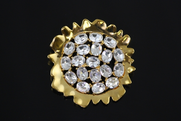 Kenneth Jay Lane Sunflower Brooch